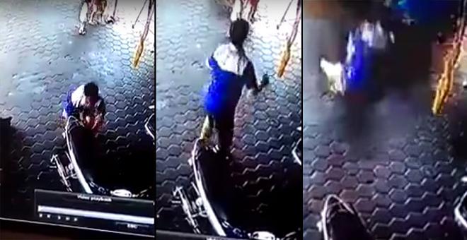 فيديو.. شاب ينقذ طفلتين من موت محقق في اللحظة الحاسمة