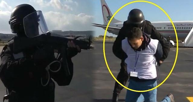تداريب قوية للأمن المغربي على طريقة أفلام هوليود لحماية المطارات