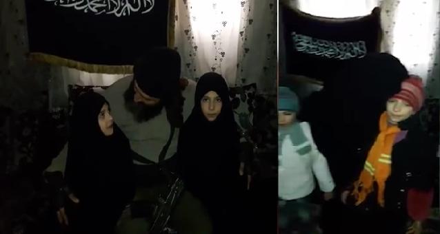 فيديو صادم: والدان يجهزان طفلتيهما لهجوم انتحاري بدمشق