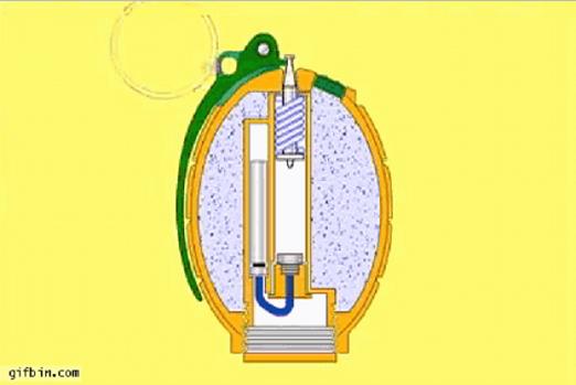 آلية عمل القنبلة اليدوية