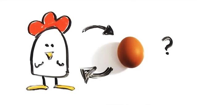 هل تعلم أيهما جاء أولاً؟ البيضة أم الدجاجة؟