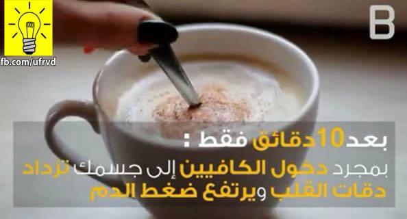 هذا ما يحدث فى اجسادنا بعد شرب فنجان من القهوة