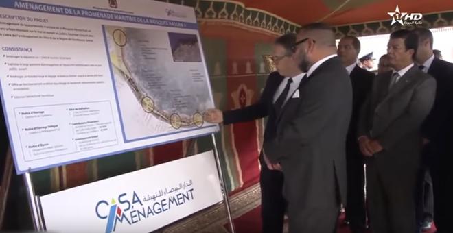 الملك محمد السادس يعطي انطلاقة اشغال تهيئة المنتزه الساحلي لمسجد الحسن الثاني