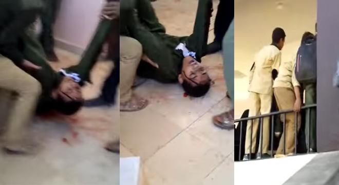 طالب يفجر قنبلة بالخطاء في وجه زملائه بالمدرسة ويتسبب في كارثة