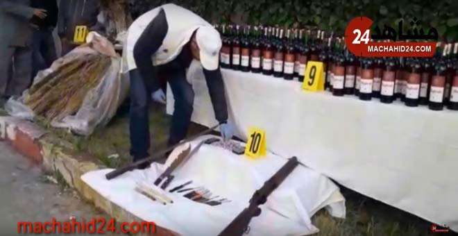 الدرك الملكي يعتقل ستة أشخاص بمنطقة 2 مارس بتهمة ترويج الخمور و المخدرات و حيازة سلاح ناري