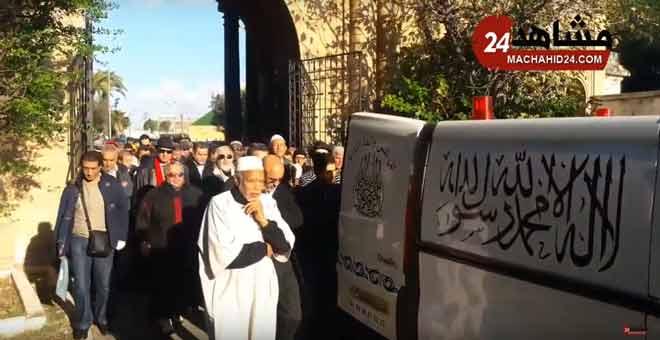 تشييع جنازة الفنان التشكيلي عبد اللطيف الزين بمقبرة الشهداء بالبيضاء