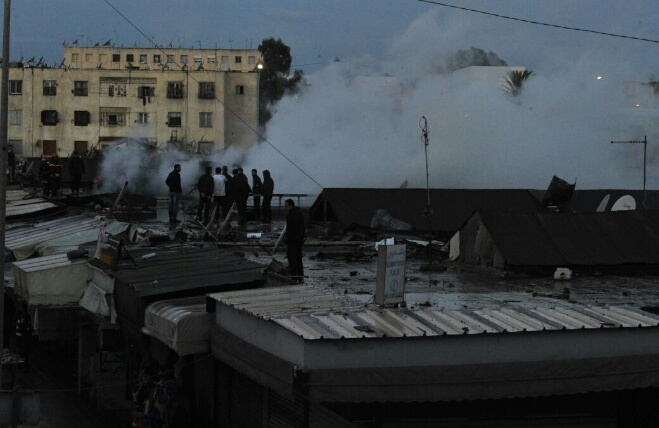 خسائر ''حريق الحي المحمدي'' بالملايين والتجار مستاؤون
