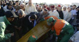 دفن جثمان والدة بنكيران
