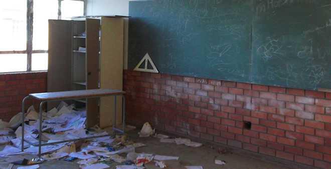 مجهولون يهاجمون مؤسسة تعليمية والأساتذة يلوحون بالاحتجاج