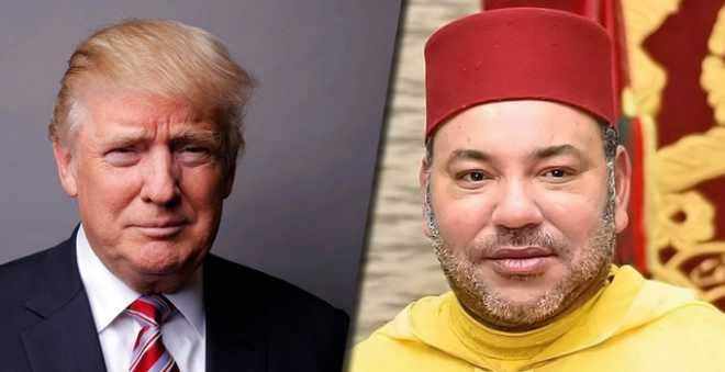 الملك محمد السادس ودونالد ترامب يجريان مباحثات عبر الهاتف