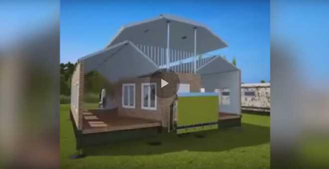 لا يصدق.. منزل من 450 متر مربع قابل للطي ويتحول الى شاحنة