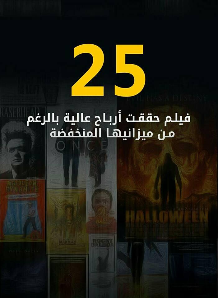 أفلام حققت أرباح عالية بالرغم من ميزانيتها المنخفضة