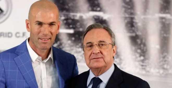 رئيس ريال مدريد يحسم مصير زيدان