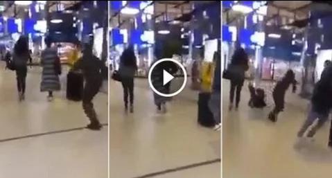 فيديو صادم .. اعتداء شنيع على امرأة مغربية محجبة بهولندا
