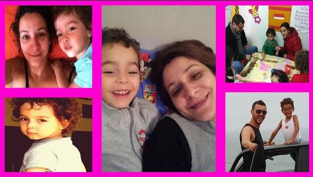 جميلة الهوني ''التايكة'' رفقة إبنها الوحيد من زوجها السابق أمين الناجي ''المهيدي''
