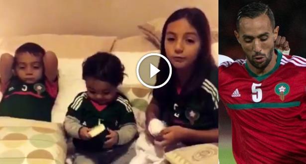 بنعطية ينشر الفيديو المؤثر الذي تلقاه من أبنائه تشجيعا له في