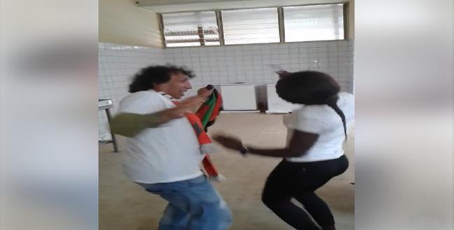 بالفيديو.. الظلمي يرقص رفقة فتاة غابونية