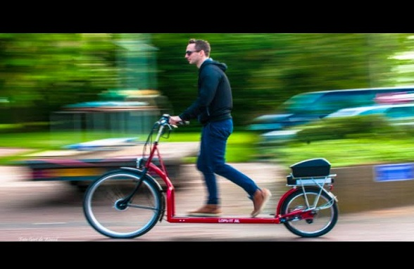 أول دراجة تجمع بين جهاز المشي والدراجة الهوائية في العالم