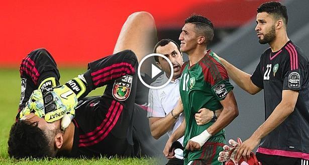 فيديو .. انهيار لاعبي المنتخب المغربي عقب صافرة نهاية المباراة