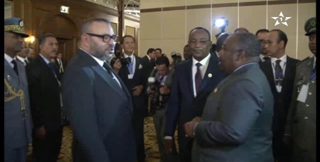 فيديو استقبال قادة وزعماء الدول الإفريقية للملك محمد السادس بإثيوبيا
