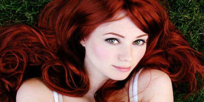 الشعر الأحمر