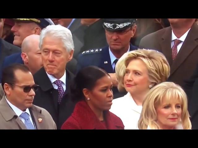 فيديو طريف.. كلينتون يتحرش بزوجة ترامب أمام زوجته هيلاري
