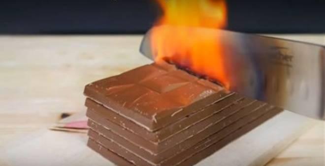 بالفيديو.. أكثر من 40 مليون مشاهدة لسكين ساخن يقطع أي شيئ !!