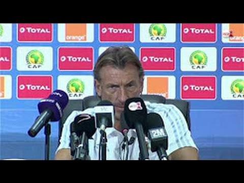 رونار مدرب المنتخب المغربي يتحدث بالدارجة المغربية في الندوة الصحفية قبل مواجهة المنتخب المصري
