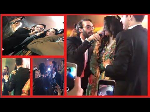 شاهد التركي مراد يلدريم وزوجته إيمان ألباني يغنيان مك يامك على أنغام عثمان مولين