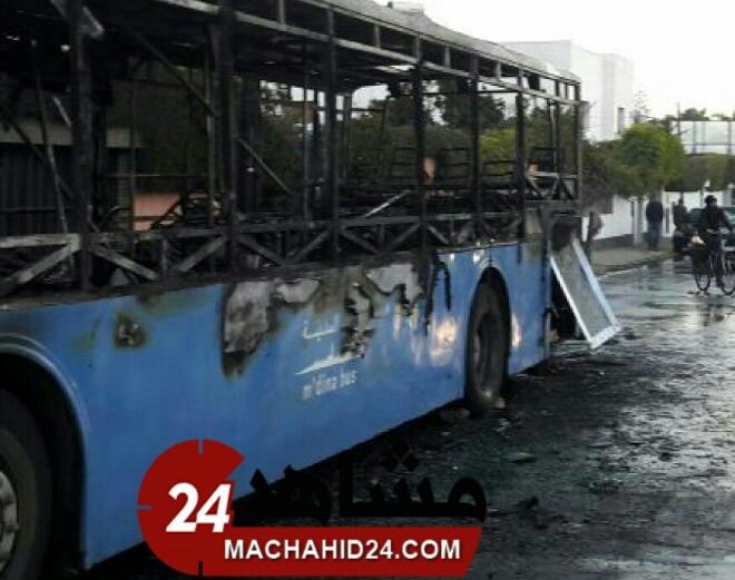 بالصور.. النيران تأتي مجددا على حافلات البيضاء