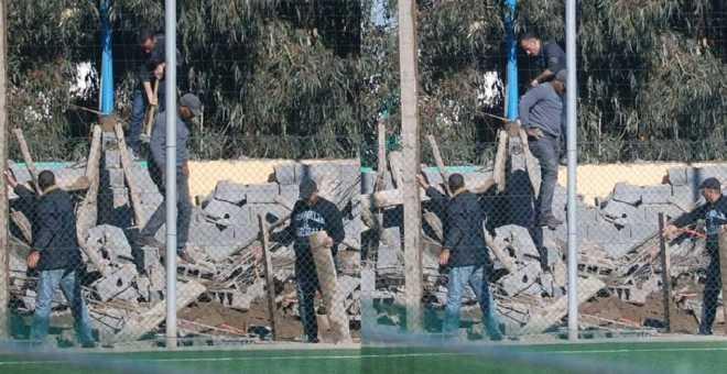 السلطات تهدم مستودع أكاديمية نجم الشباب البيضاوي!
