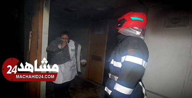 فيديو.. اختناقات في مصحة خاصة بسبب حريق داخل مركز للفحص بالأشعة