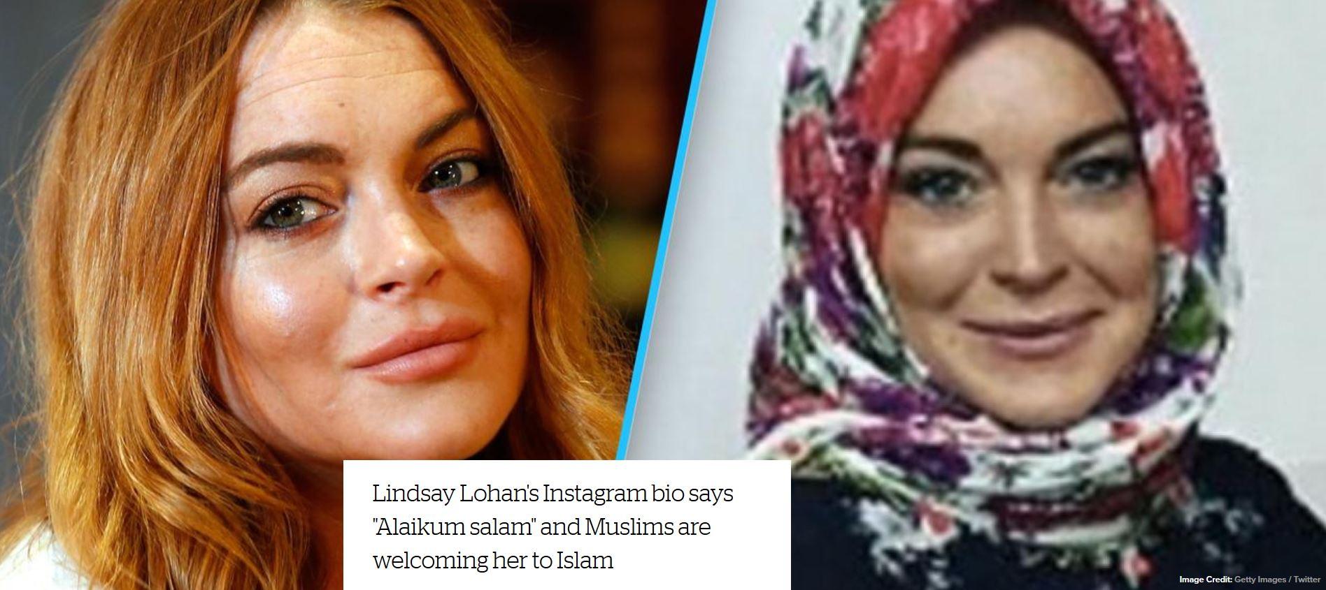 ليندسي لوهان يوضح حقيقة اعتناقها الإسلام