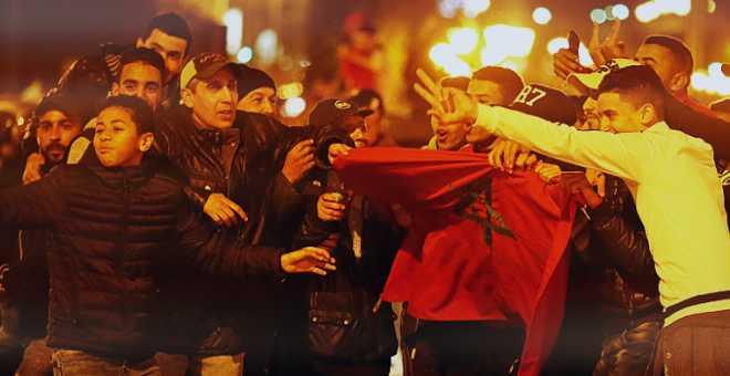فرحة المغاربة بعد  فوز