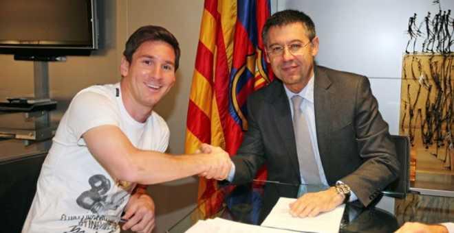 برشلونة ينجح في حسم عقد ميسي