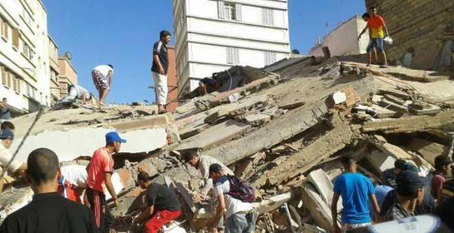 وفاة رجل وإصابة فتاة في انهيار منزل ببني ملال!