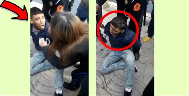 بالفيديو.. لحظة القبض على سارق متلبس شاهدوا ماذا وقع