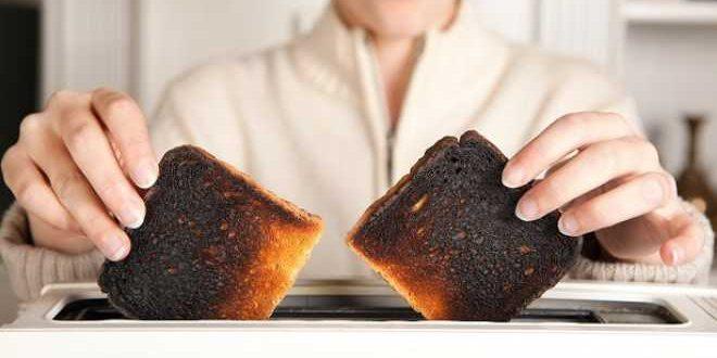 الخبز المحروق
