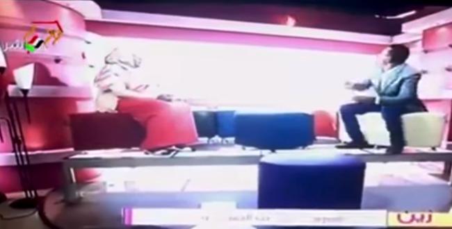 بالفيديو.. لحظة اشتعال قناة تلفزيونية سودانية