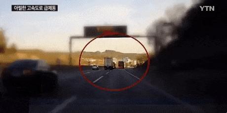 سائق شاحنة ينجو باعجوبة من موت محقق