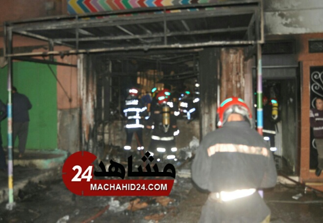 عاجل. حريق مهول يتسبب في اختناقات بالبيضاء