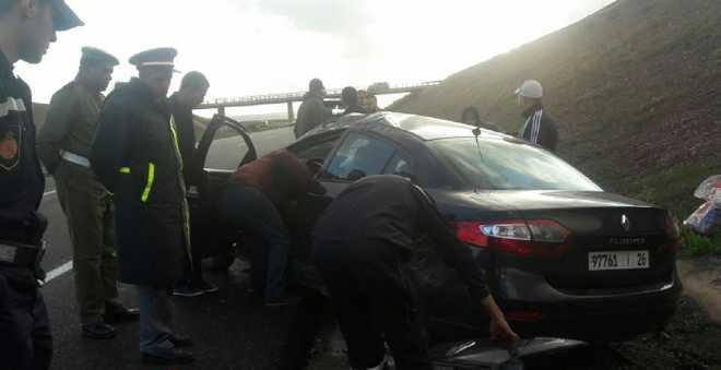 بالفيديو. السرعة المفرطة تتسبب في حادثة سير خطيرة بالطريق السيار