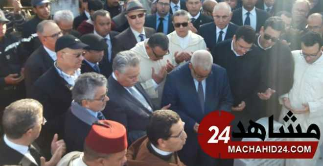بالصور. جنازة زوجة رجل الأعمال كمال لحلو تجمع شمل السياسيين المغاربة