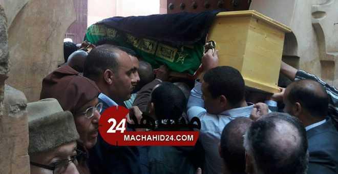 شمل السياسيين المغاربة يجتمع في جنازة حكيم الاستقلاليين بوستة (صور - فيديو)