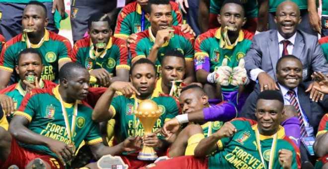 منتخب الكاميرون يتوج بكأس افريقيا بالغابون