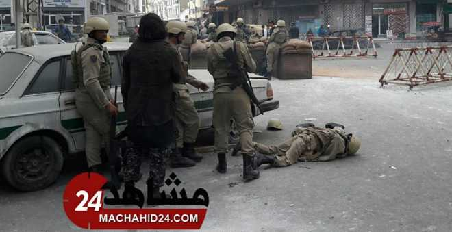 بالصور. دبابات وجنود وتبادل إطلاق النار وسط الدار البيضاء!