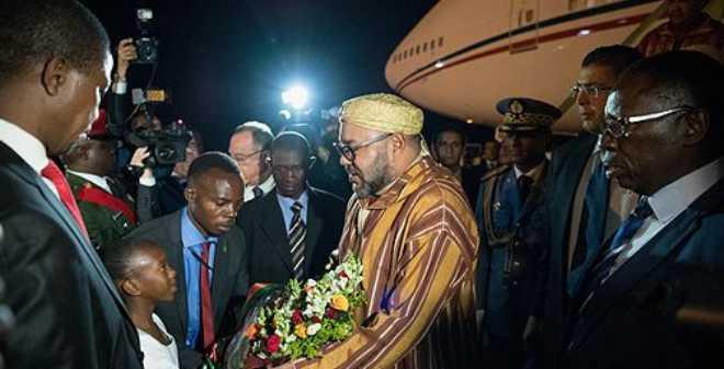الملك محمد السادس يحل بلوساكا في زيارة رسمية إلى جمهورية زامبيا
