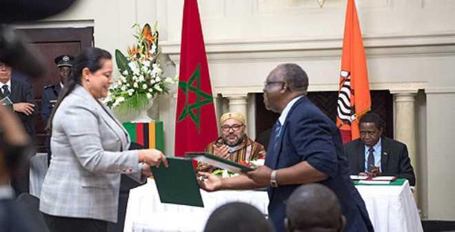 الملك محمد السادس ورئيس زامبيا يشرفان على توقيع 19 اتفاقية مهمة