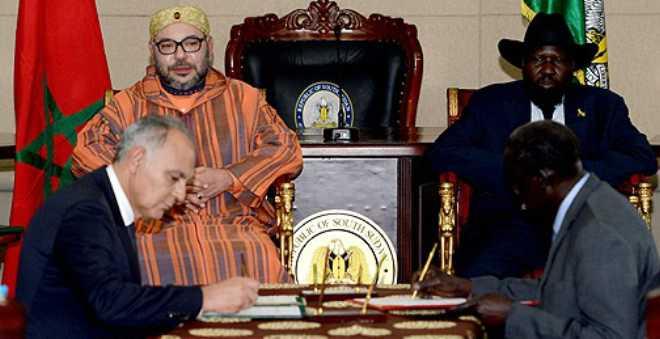 الملك محمد السادس ورئيس جنوب السودان يترأسان مراسيم التوقيع على تسع اتفاقيات