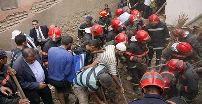 مقتل ثلاثة أشخاص في انهيار منزل بمراكش